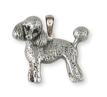 Poodle Pendant Handmade Sterling Silver Dog Jewelry PD55-P