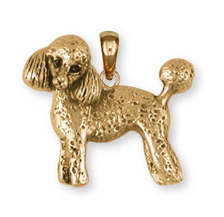 Poodle Pendant 14k Yellow Gold Vermeil Dog Jewelry PD55-PVM