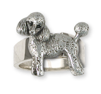 Poodle Ring Handmade Sterling Silver Dog Jewelry PD55-R
