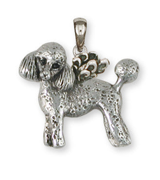 Poodle Angel Pendant Handmade Sterling Silver Dog Jewelry PD55A-P