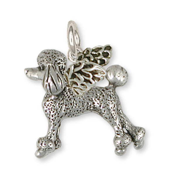 Poodle Angel Charms Poodle Angel Pendant Handmade Sterling Silver Dog Jewelry Poodle angel jewelry