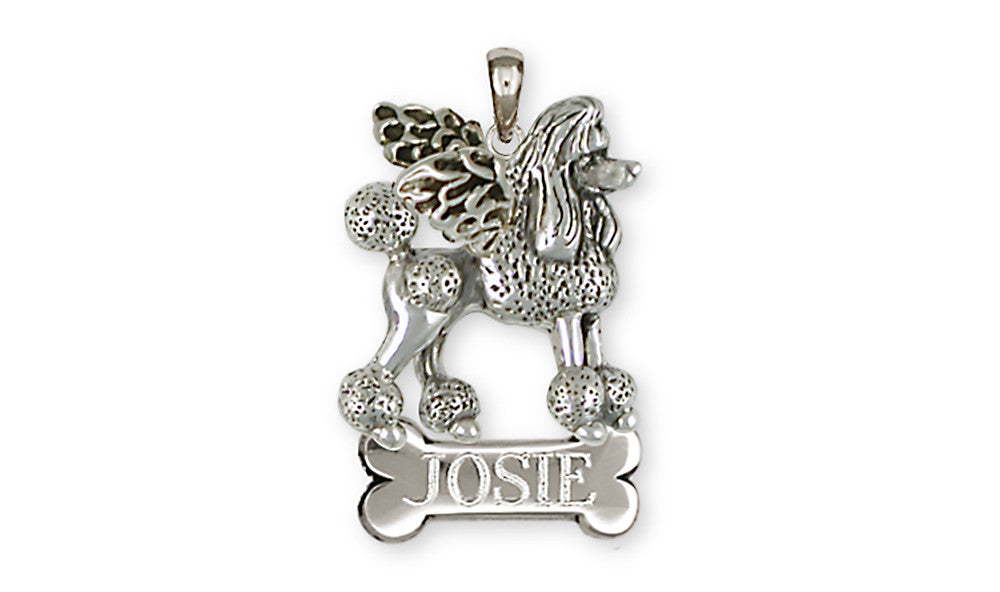 Poodle Angel Charms Poodle Angel Personalized Pendant Sterling Silver Dog Jewelry Poodle Angel jewelry