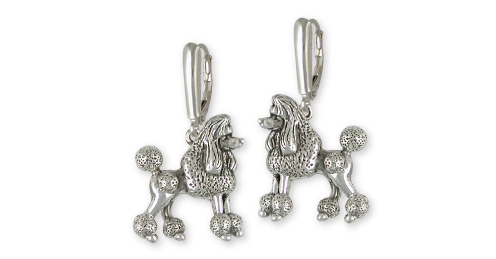 Poodle Charms Poodle Earrings Sterling Silver Dog Jewelry Poodle jewelry