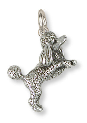 Poodle Charm Handmade Sterling Silver Dog Jewelry PD58-C