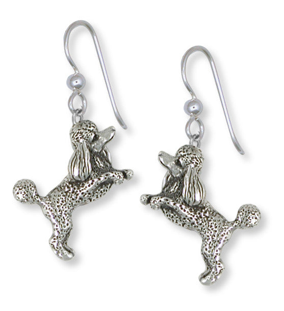 Poodle Earrings Handmade Sterling Silver Dog Jewelry PD58-E