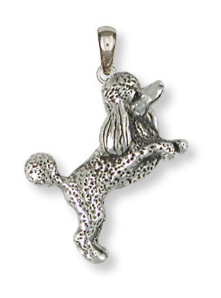 Poodle Pendant Handmade Sterling Silver Dog Jewelry PD58-P