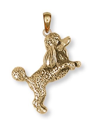 Poodle Pendant 14k Yellow Gold Vermeil Dog Jewelry PD58-PVM