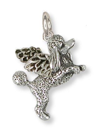 Poodle Angel Pendant Handmade Sterling Silver Dog Jewelry PD58A-C
