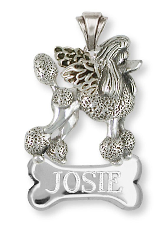 Poodle Angel Charms Poodle Angel Personalized Pendant Handmade Sterling Silver Dog Jewelry Poodle Angel jewelry