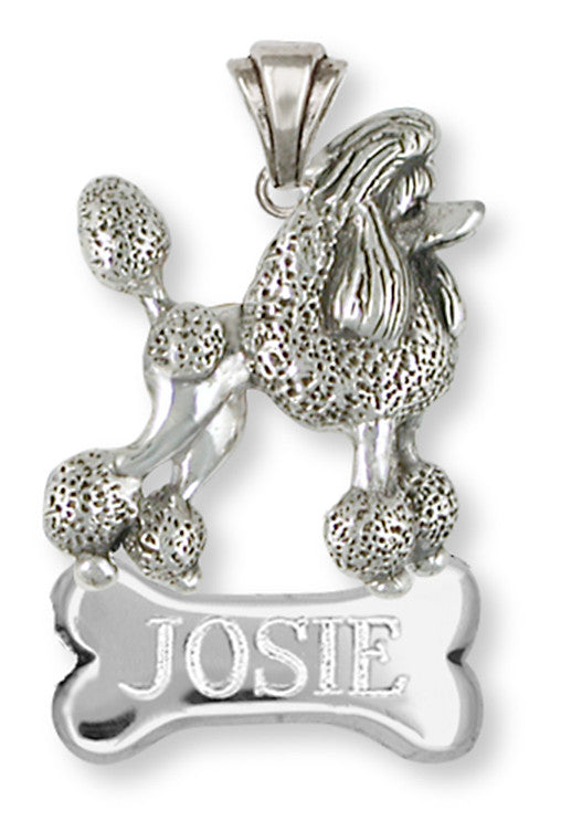Poodle Charms Poodle Personalized Pendant Handmade Sterling Silver Dog Jewelry Poodle jewelry