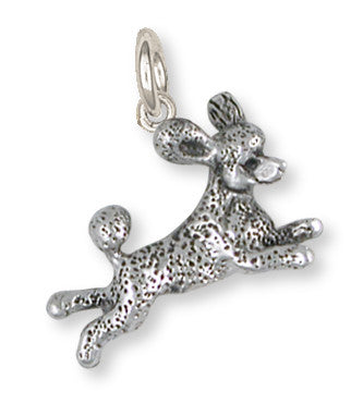 Poodle Charm Handmade Sterling Silver Dog Jewelry PD60-C