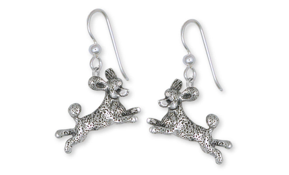 Poodle Earrings Handmade Sterling Silver Dog Jewelry PD60-E