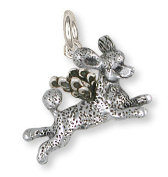 Poodle Angel Charm Handmade Sterling Silver Dog Jewelry PD60A-C