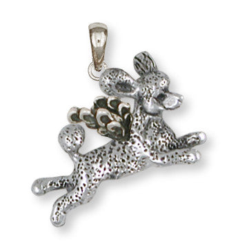 Poodle Angel Pendant Handmade Sterling Silver Dog Jewelry PD60A-P