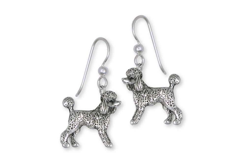 Poodle Earrings Handmade Sterling Silver Dog Jewelry PD61-E