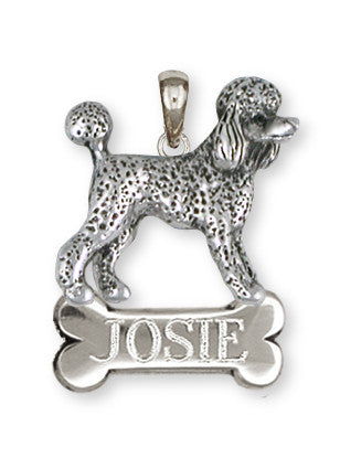 Poodle Personalized Pendant Handmade Sterling Silver Dog Jewelry PD61-NP