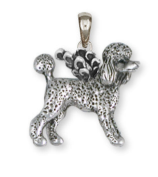 Poodle Angel Pendant Handmade Sterling Silver Dog Jewelry PD61A-P