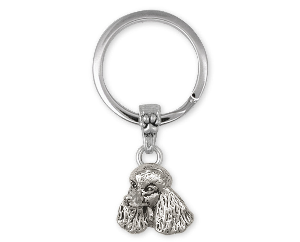 Poodle Charms Poodle Key Ring Sterling Silver Dog Jewelry Poodle jewelry