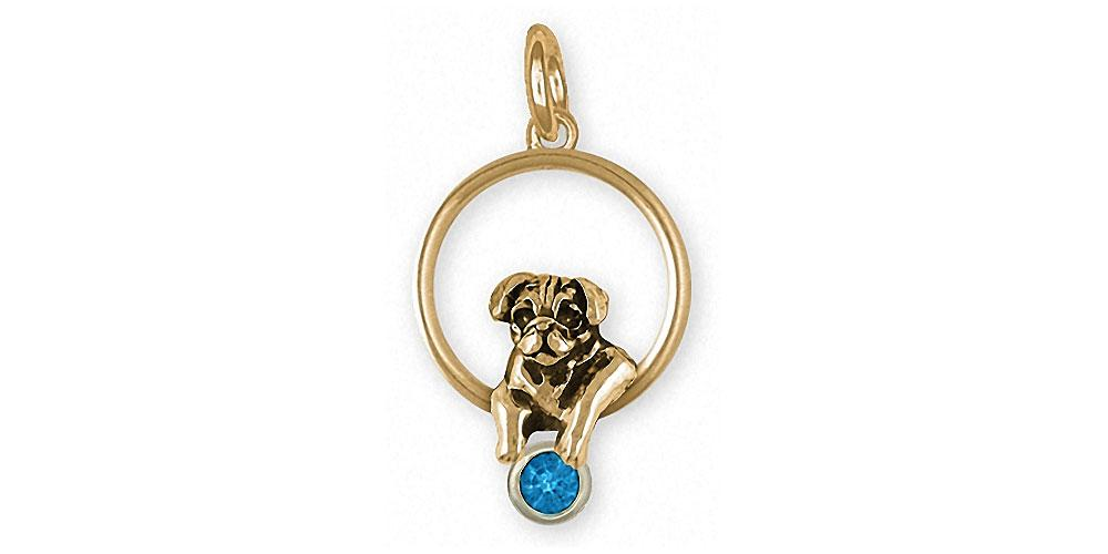 Pug Charms Pug Charm 14k Gold Dog Jewelry Pug jewelry