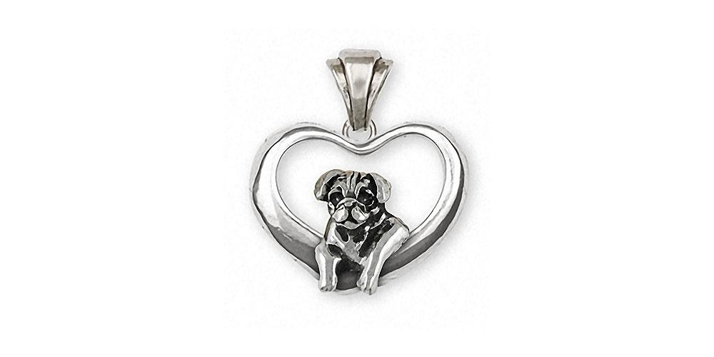 Pug Charms Pug Pendant Sterling Silver Dog Jewelry Pug jewelry