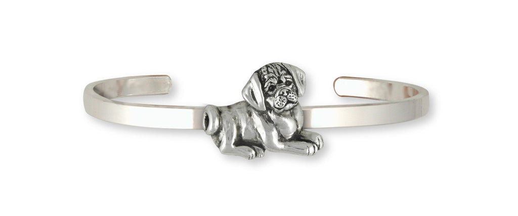 Puggle Charms Puggle Bracelet Sterling Silver Dog Jewelry Puggle jewelry