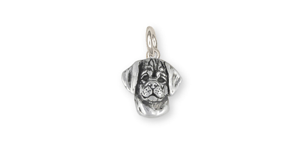 Puggle Charms Puggle Charm Sterling Silver Dog Jewelry Puggle jewelry