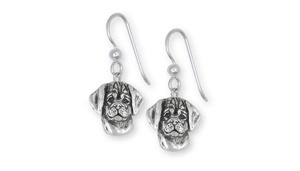 Puggle Charms Puggle Earrings Sterling Silver Dog Jewelry Puggle jewelry