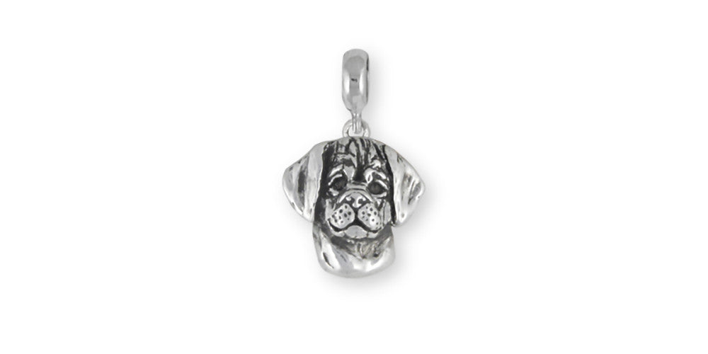Puggle Charms Puggle Charm Slide Sterling Silver Dog Jewelry Puggle jewelry