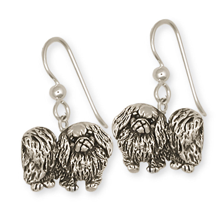 Pekingese Charms Pekingese Earrings Handmade Sterling Silver Dog Jewelry Pekingese jewelry