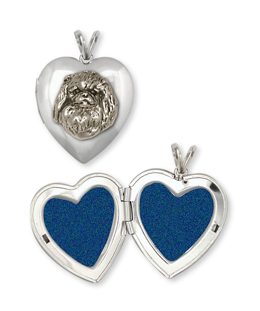 Pekingese Charms Pekingese Photo Locket Handmade Sterling Silver Dog Jewelry Pekingese jewelry