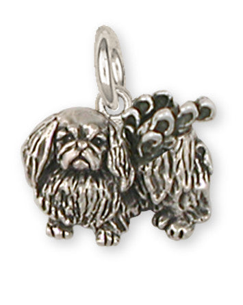 Pekingese Angel Charms Pekingese Angel Charm Handmade Sterling Silver Dog Jewelry Pekingese Angel jewelry