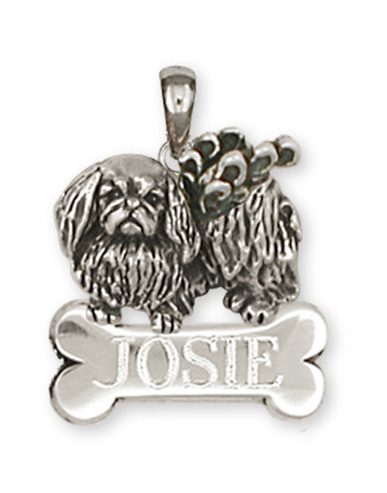 Pekingese Angel Charms Pekingese Angel Personalized Pendant Sterling Silver Dog Jewelry Pekingese Angel jewelry
