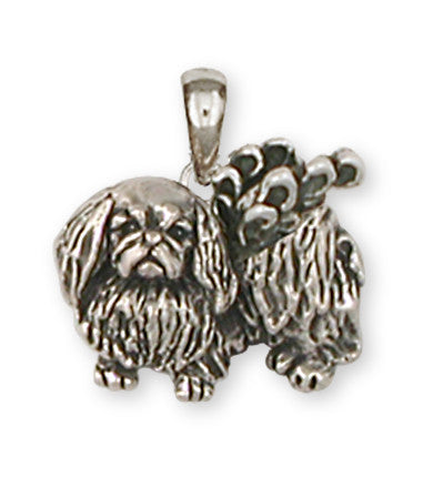 Pekingese Angel Charms Pekingese Angel Pendant Handmade Sterling Silver Dog Jewelry Pekingese Angel jewelry