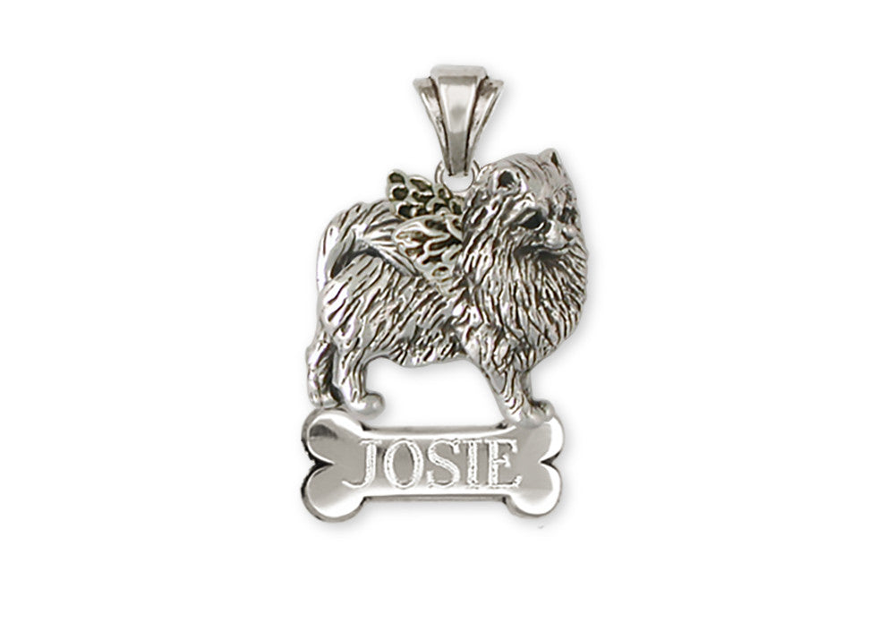 Pomeranian Angel Charms Pomeranian Angel Personalized Pendant Silver Dog Jewelry Pomeranian angel jewelry