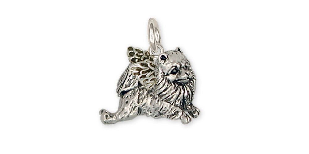Pomeranian Angel Charms Pomeranian Angel Charm Handmade Sterling Silver Dog Jewelry Pomeranian Angel jewelry
