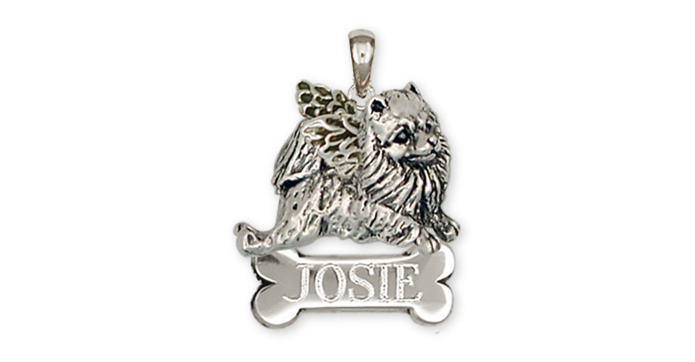 Pomeranian Angel Charms Pomeranian Angel Personalized Pendant Handmade Sterling Silver Dog Jewelry Pomeranian Angel jewelry