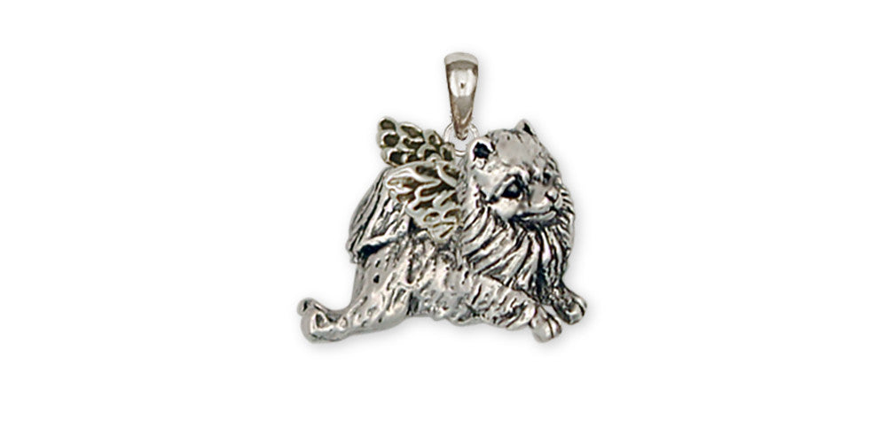 Pomeranian Angel Charms Pomeranian Angel Pendant Handmade Sterling Silver Dog Jewelry Pomeranian angel jewelry