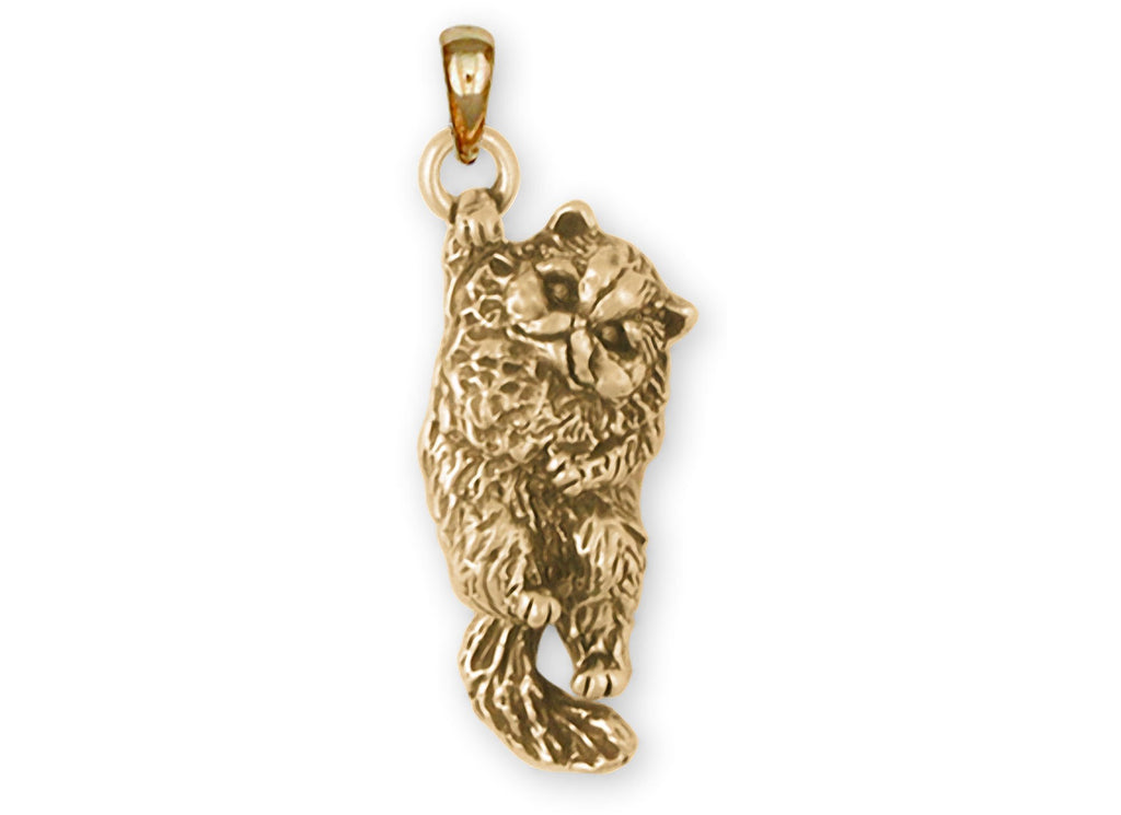 Persian Cat Charms Persian Cat Pendant 14k Gold Persian Cat Jewelry Persian Cat jewelry