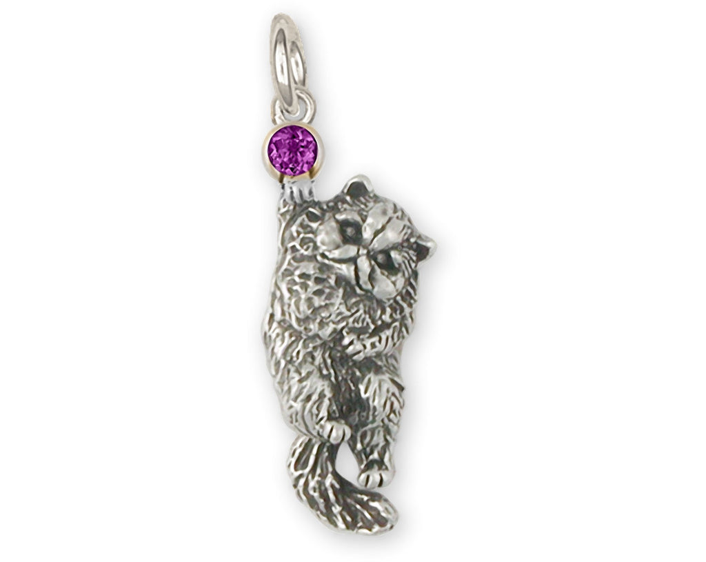 Persian Cat Charms Persian Cat Chain Sterling Silver Persian Cat Jewelry Persian Cat jewelry