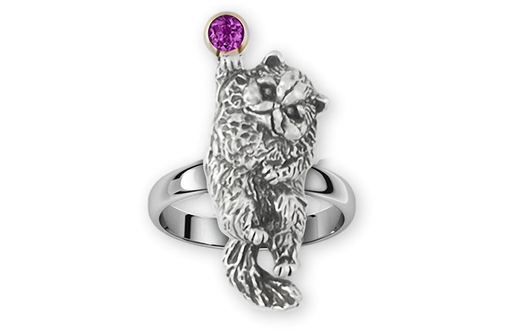 Persian Cat Charms Persian Cat Ring Sterling Silver Persian Cat Jewelry Persian Cat jewelry