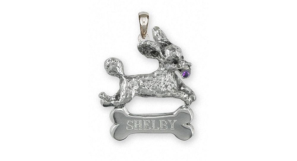 Poodle Charms Poodle Pendant Sterling Silver Poodle Jewelry Poodle jewelry