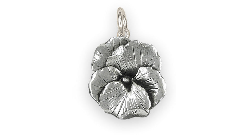 Pansy Flower Charms Pansy Flower Charm Sterling Silver Pansy Jewelry Pansy Flower jewelry