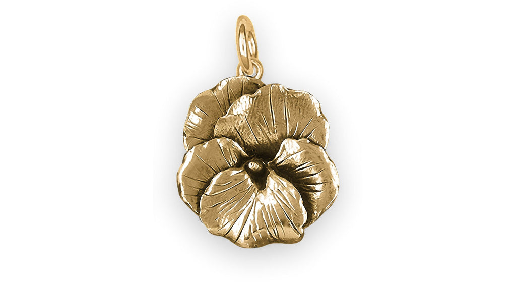 Pansy Flower Charms Pansy Flower Charm 14k Gold Pansy Jewelry Pansy Flower jewelry