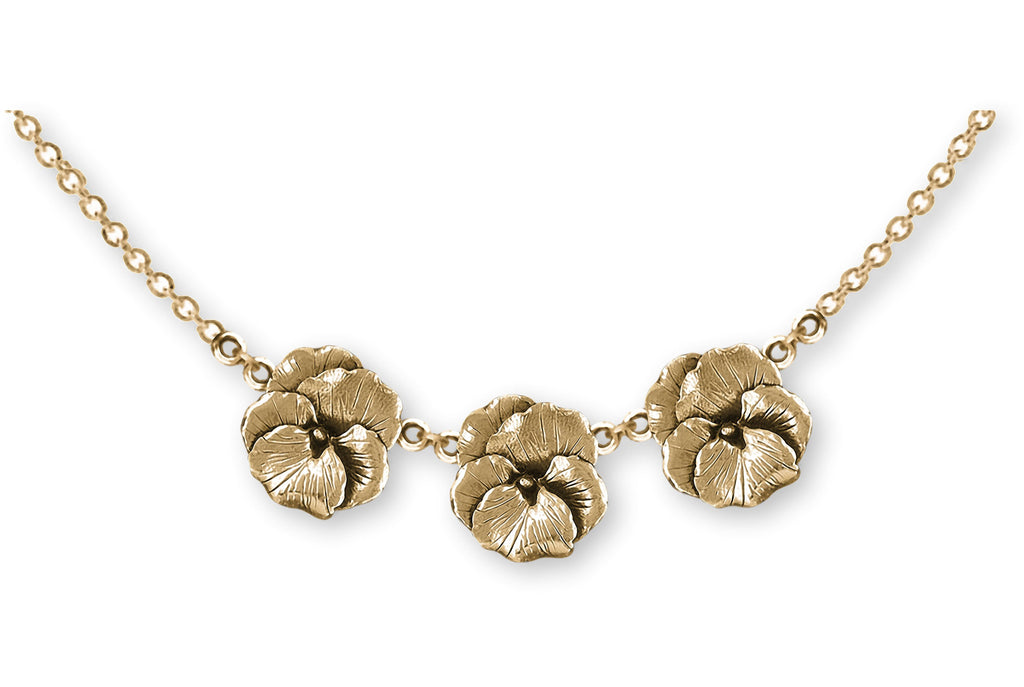 Pansy Charms Pansy Necklace 14k Gold Vermeil Pansy Flower Jewelry Pansy jewelry