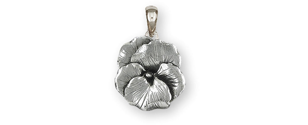 Pansy Charms Pansy Pendant Sterling Silver Pansy Flower Jewelry Pansy jewelry