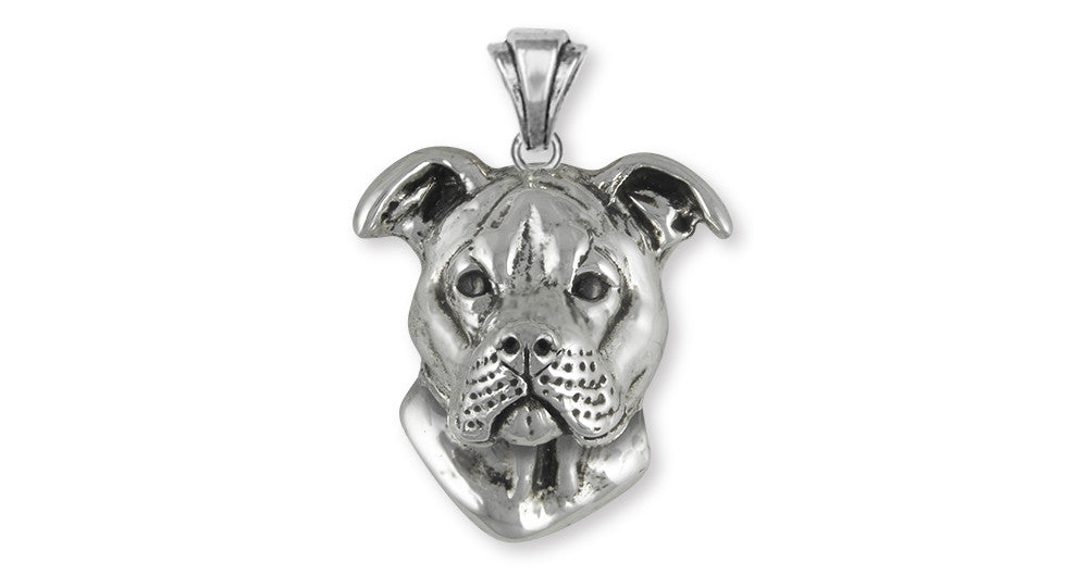 Pit Bull Charms Pit Bull Pendant Handmade Sterling Silver Dog Jewelry Pit Bull jewelry