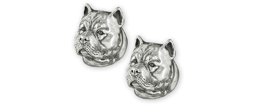 Pit Bull Charms Pit Bull Cufflinks Sterling Silver Pit Bull Jewelry Pit Bull jewelry