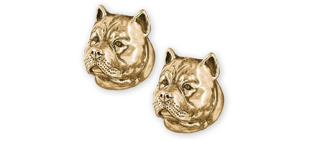 Pit Bull Charms Pit Bull Cufflinks 14k Gold Vermeil Pit Bull Jewelry Pit Bull jewelry