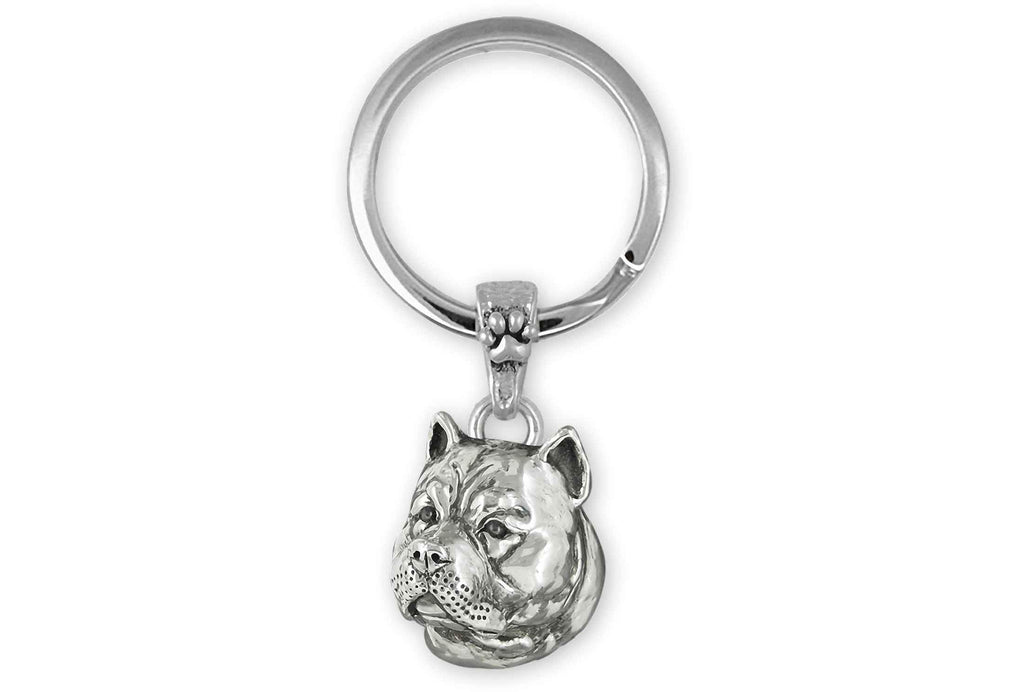 Pit Bull Charms Pit Bull Key Ring Sterling Silver Pit Bull Jewelry Pit Bull jewelry