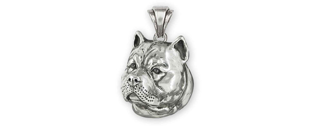 Pit Bull Charms Pit Bull Pendant Sterling Silver Pit Bull Jewelry Pit Bull jewelry